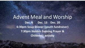 Advent Meal and Worship